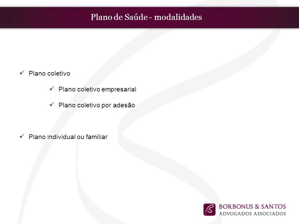 Plano de Saúde - modalidades