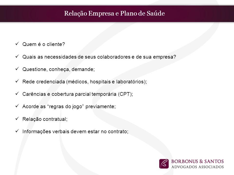 Relação Empresa e Plano de Saúde