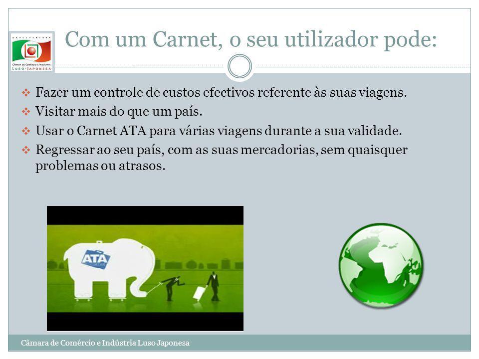 Com um Carnet, o seu utilizador pode:
