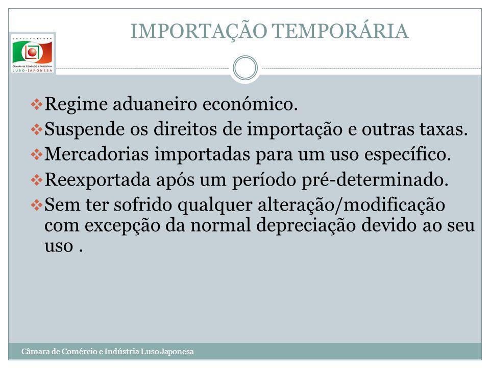IMPORTAÇÃO TEMPORÁRIA
