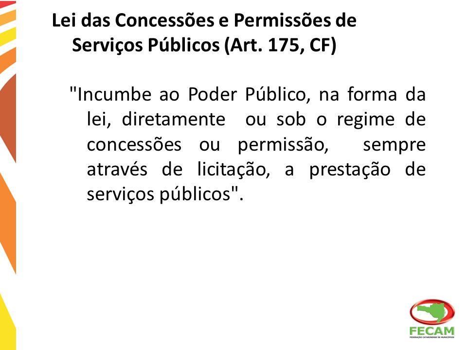 Lei das Concessões e Permissões de Serviços Públicos (Art. 175, CF)