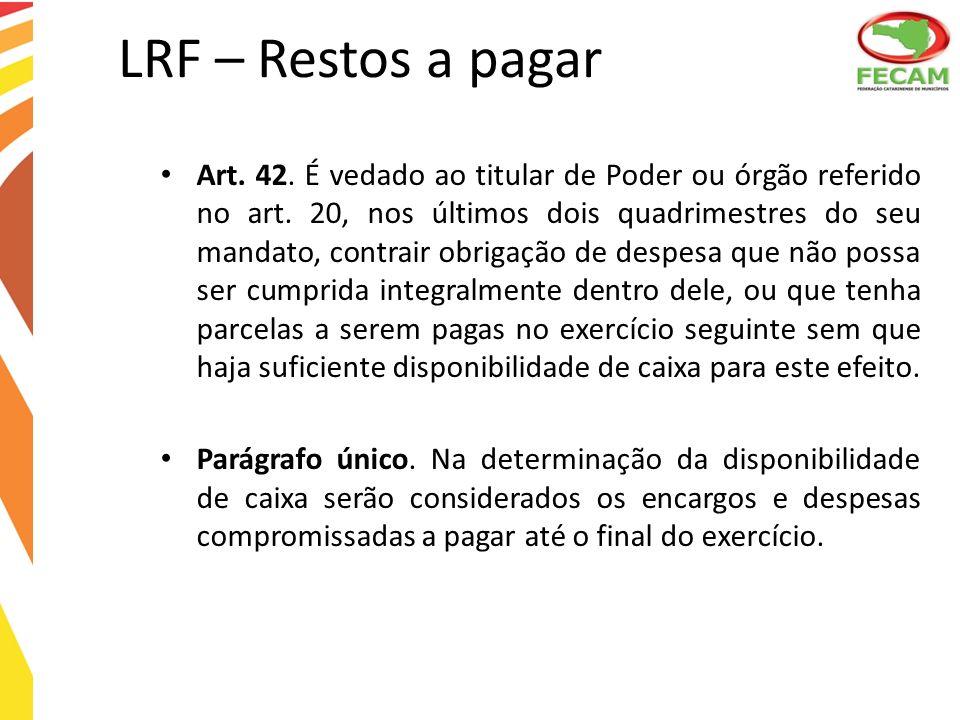 LRF – Restos a pagar