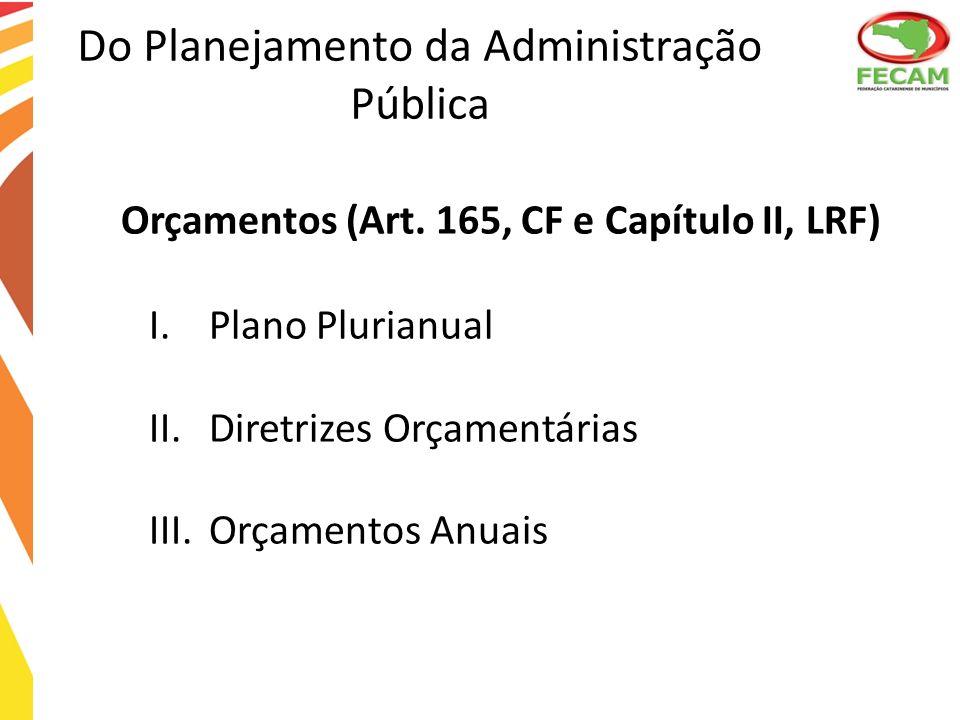 Do Planejamento da Administração Pública