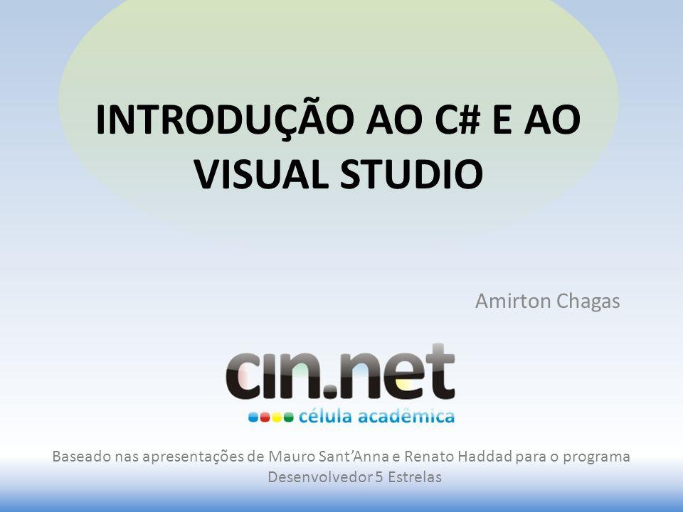 Introdução ao C# e ao visual studio