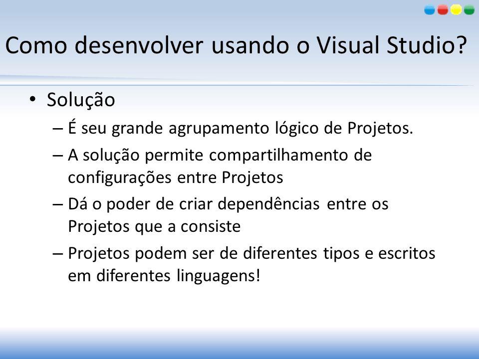 Como desenvolver usando o Visual Studio