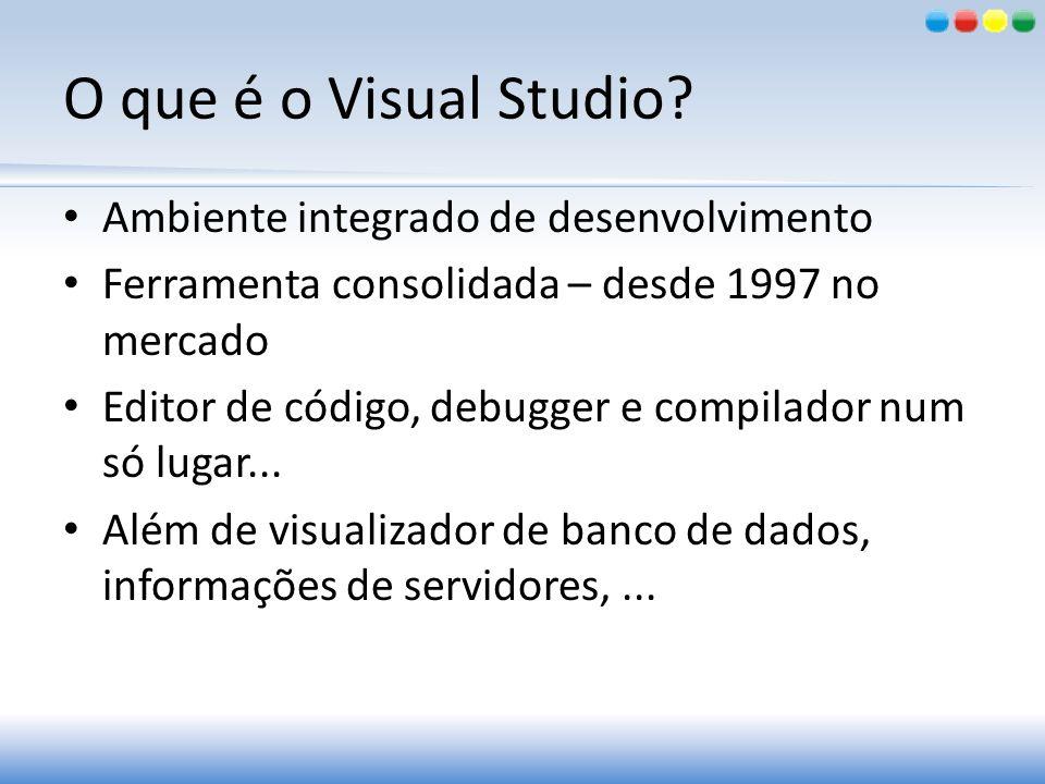 O que é o Visual Studio Ambiente integrado de desenvolvimento