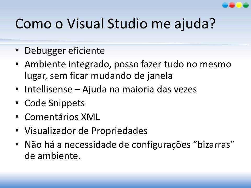 Como o Visual Studio me ajuda