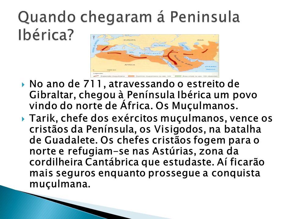 Quando chegaram á Peninsula Ibérica
