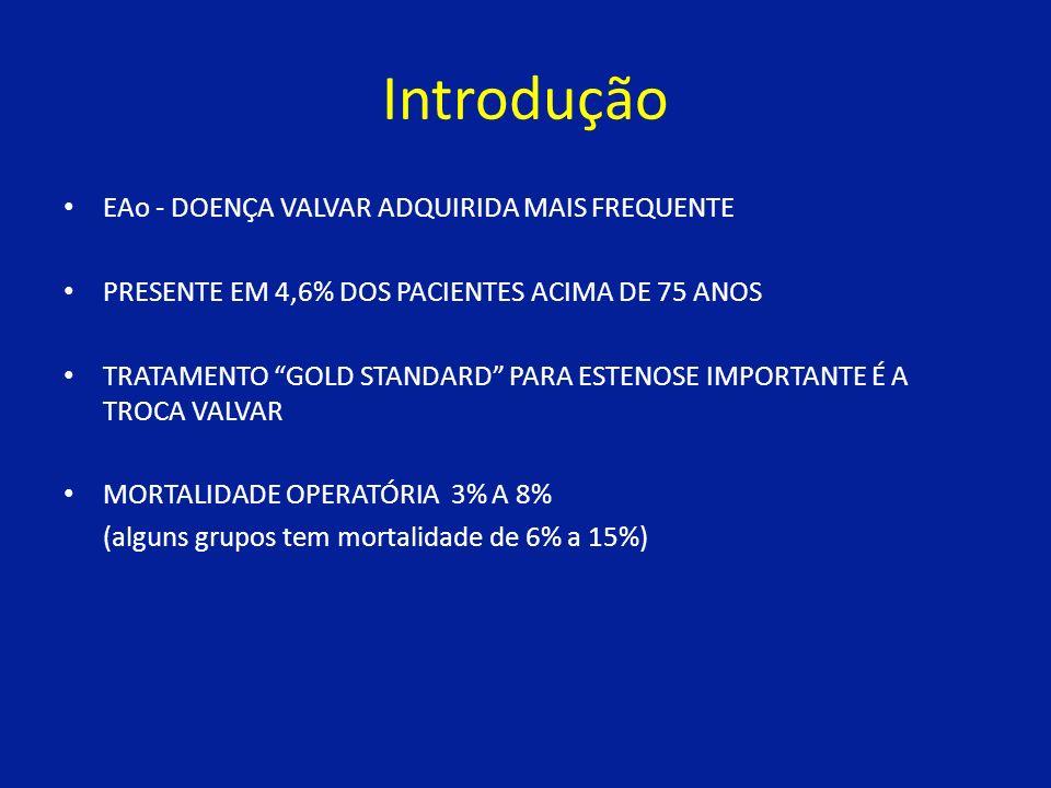 Introdução EAo - DOENÇA VALVAR ADQUIRIDA MAIS FREQUENTE