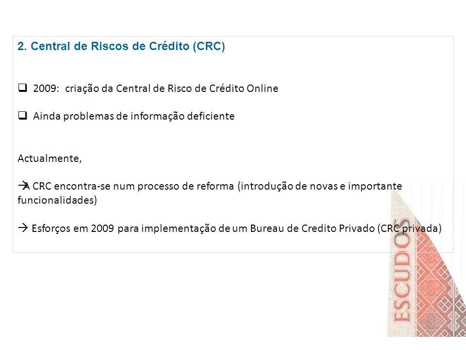 2. Central de Riscos de Crédito (CRC)