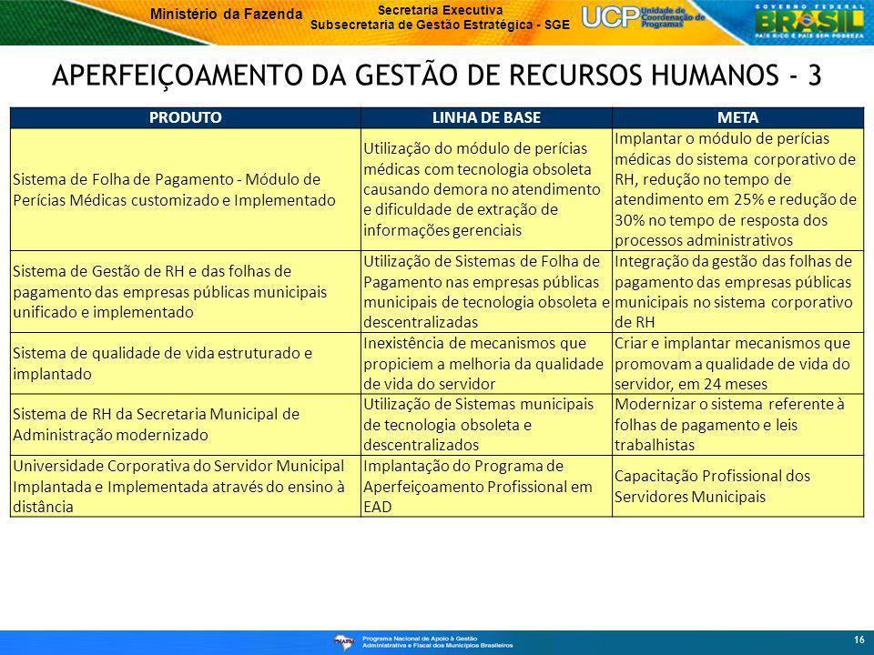 APERFEIÇOAMENTO DA GESTÃO DE RECURSOS HUMANOS - 3