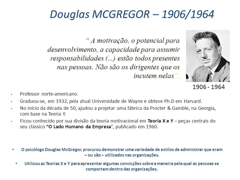 Douglas MCGREGOR – 1906/1964 1906 - 1964.