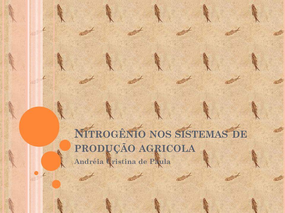 Nitrogênio nos sistemas de produção agricola