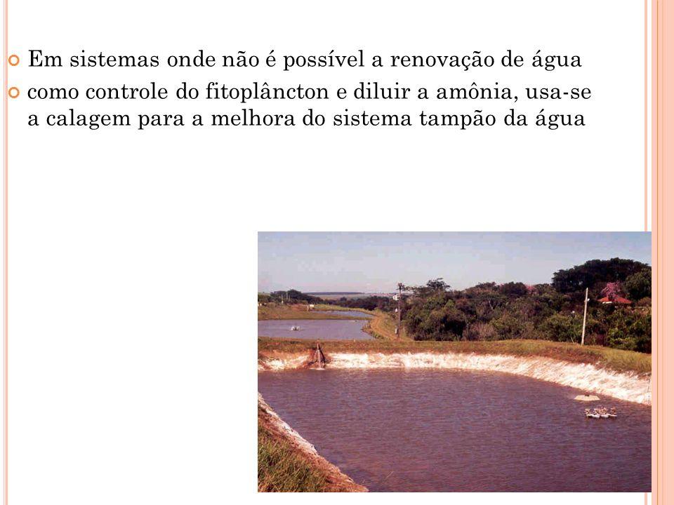 Em sistemas onde não é possível a renovação de água