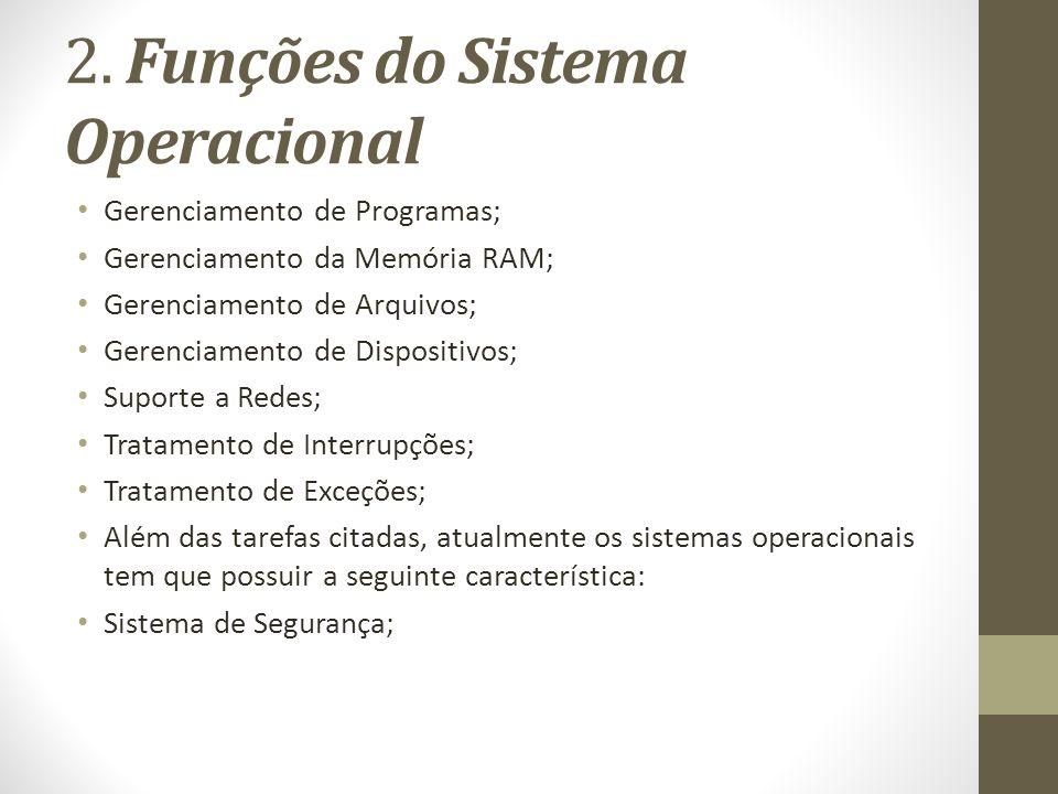 2. Funções do Sistema Operacional