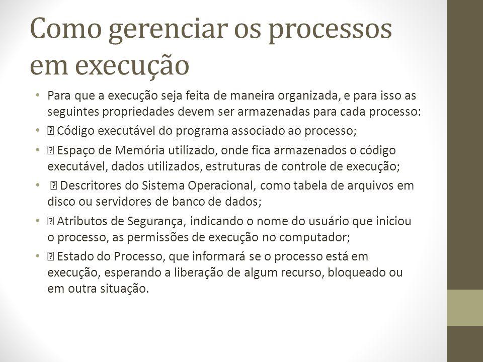 Como gerenciar os processos em execução