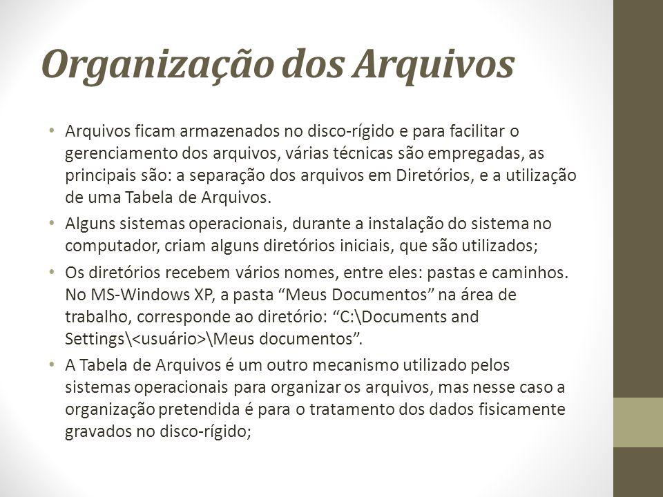 Organização dos Arquivos