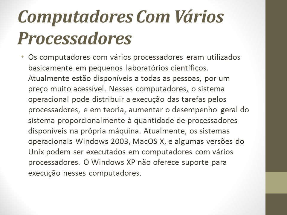 Computadores Com Vários Processadores