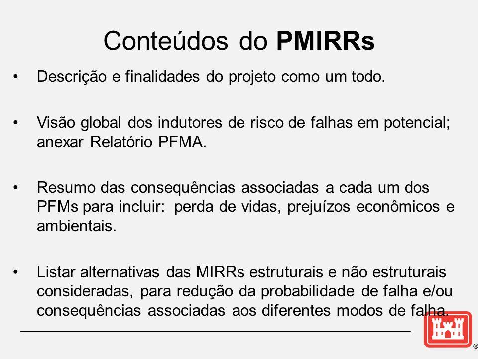 Conteúdos do PMIRRs Descrição e finalidades do projeto como um todo.