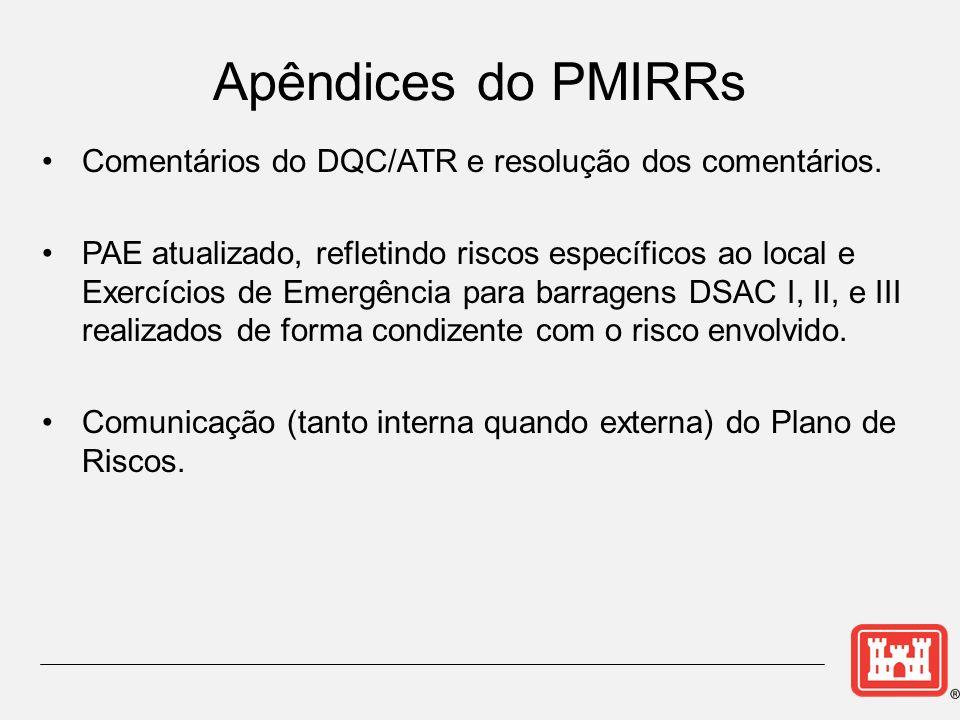 Apêndices do PMIRRs Comentários do DQC/ATR e resolução dos comentários.