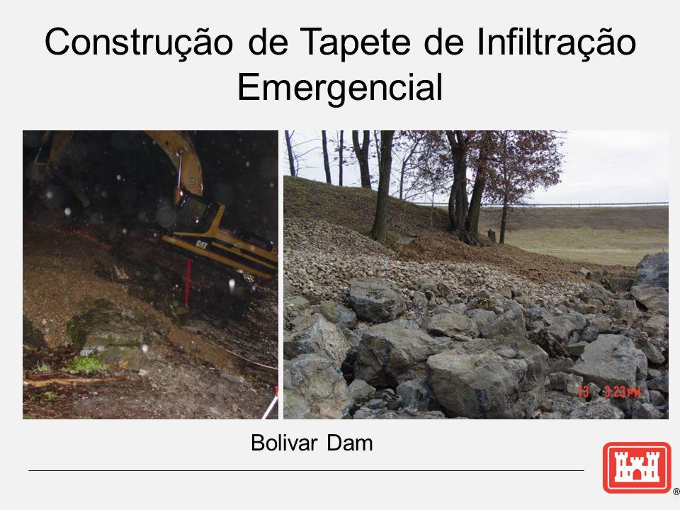 Construção de Tapete de Infiltração Emergencial