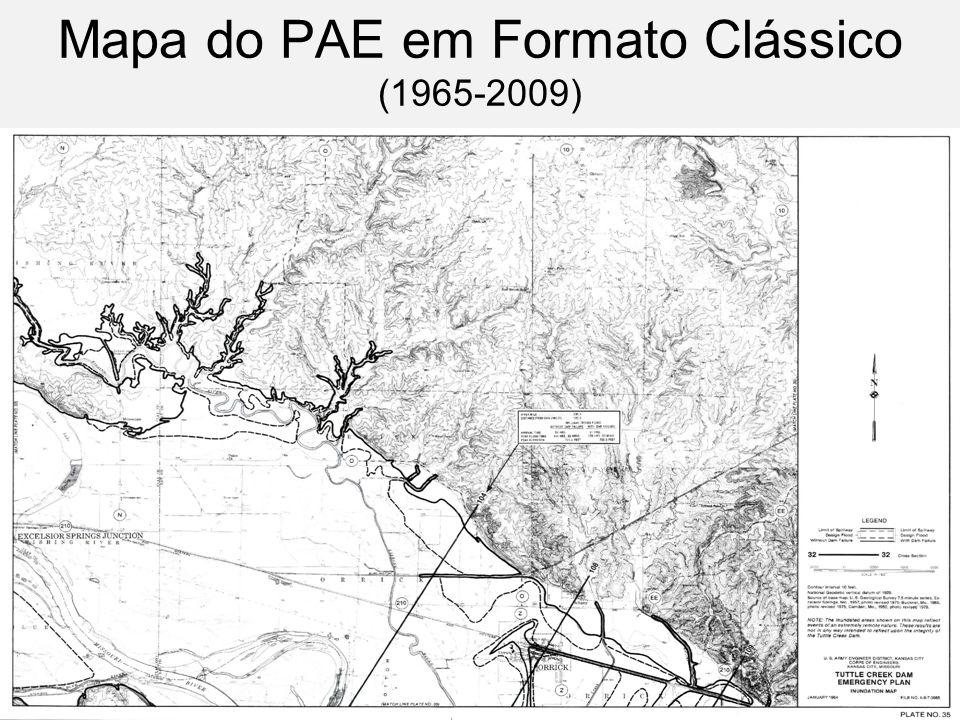 Mapa do PAE em Formato Clássico (1965-2009)