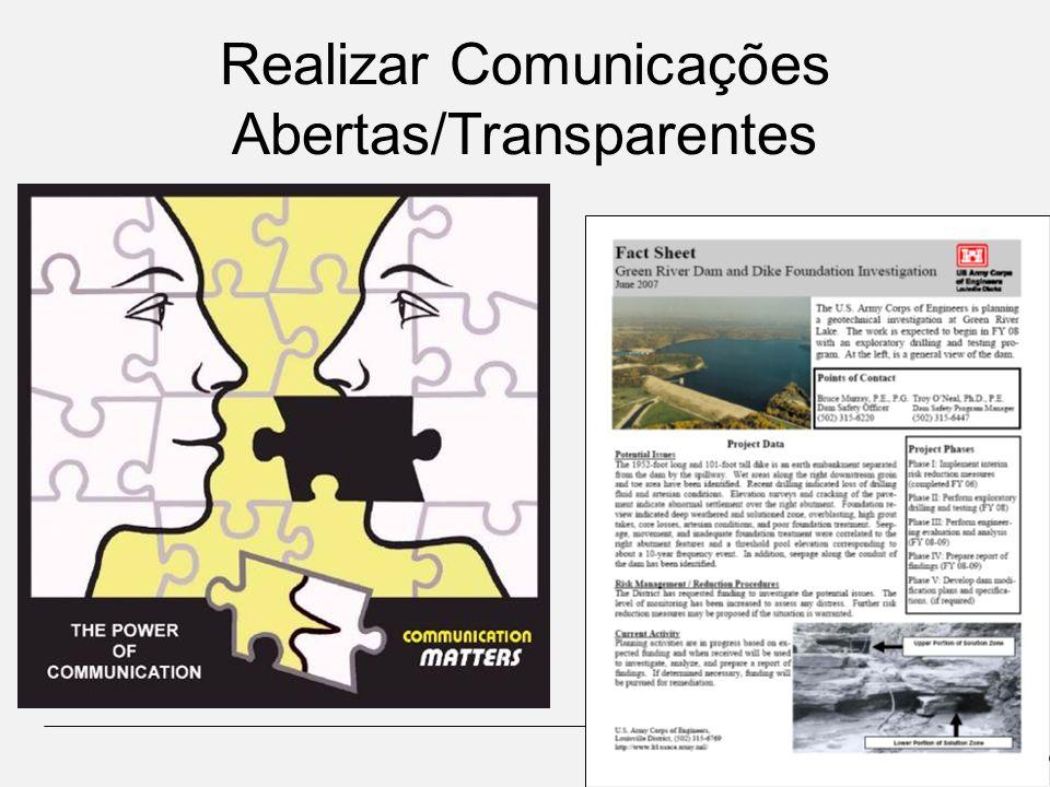 Realizar Comunicações Abertas/Transparentes