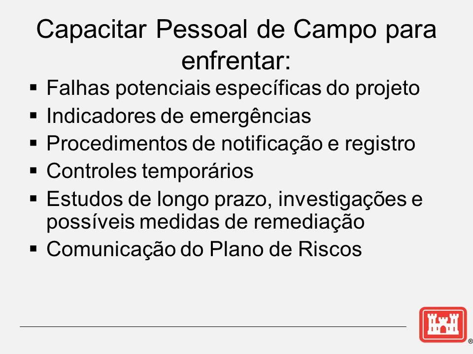 Capacitar Pessoal de Campo para enfrentar: