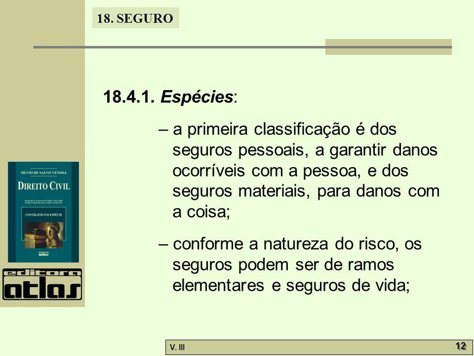 18.4.1. Espécies: