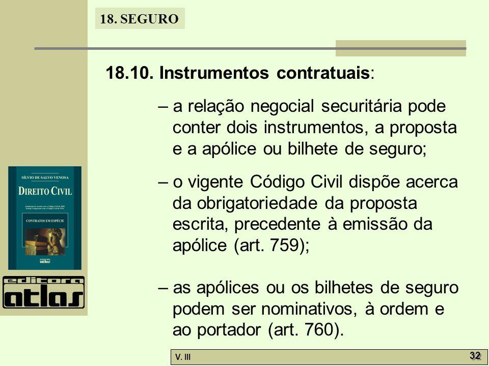 18.10. Instrumentos contratuais: