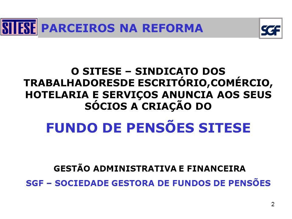 FUNDO DE PENSÕES SITESE