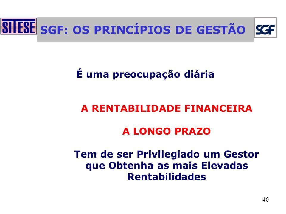 SGF: OS PRINCÍPIOS DE GESTÃO