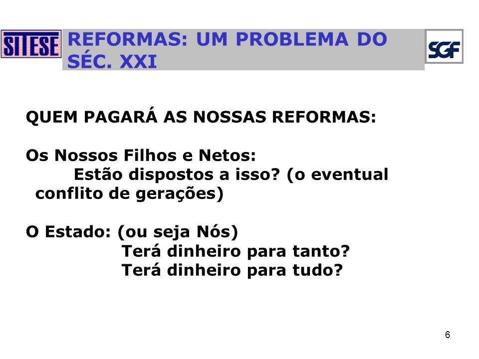 REFORMAS: UM PROBLEMA DO SÉC. XXI