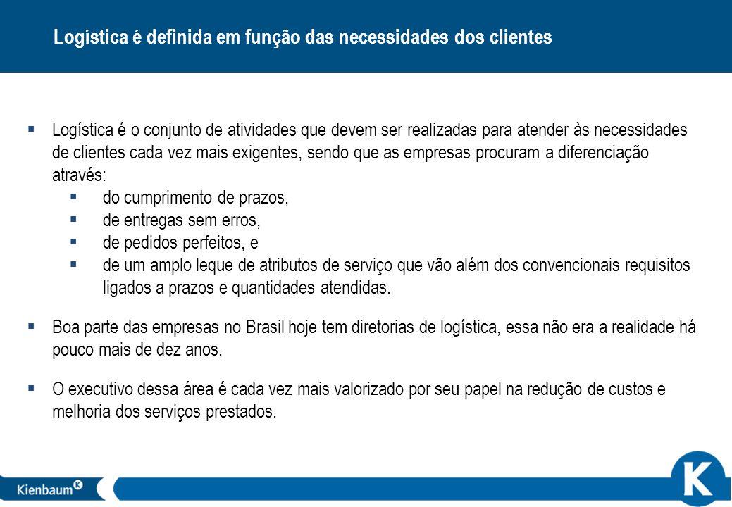 Logística é definida em função das necessidades dos clientes