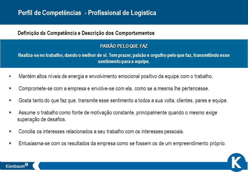 Perfil de Competências - Profissional de Logística