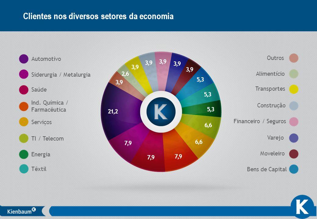 Clientes nos diversos setores da economia