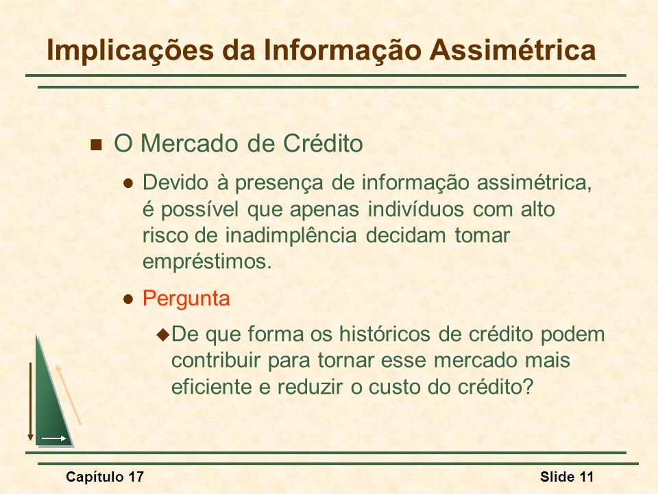 Implicações da Informação Assimétrica