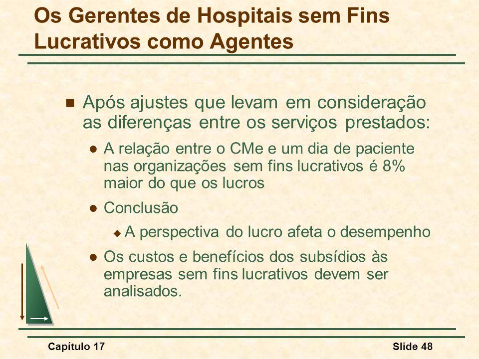 Os Gerentes de Hospitais sem Fins Lucrativos como Agentes