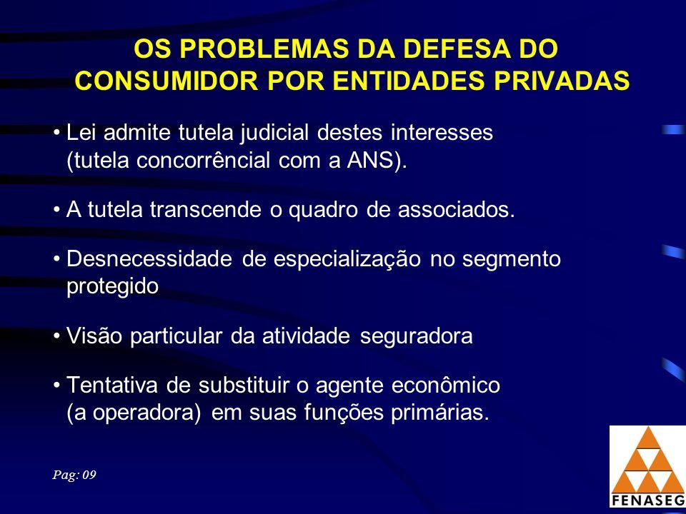 OS PROBLEMAS DA DEFESA DO CONSUMIDOR POR ENTIDADES PRIVADAS
