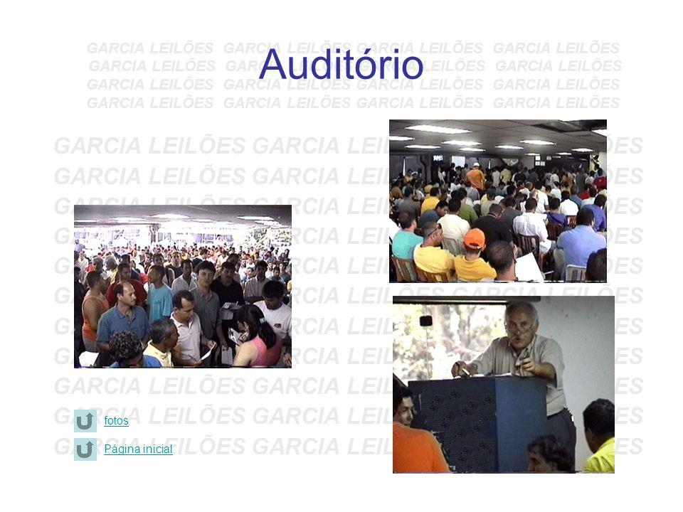 Auditório GARCIA LEILÕES GARCIA LEILÕES GARCIA LEILÕES