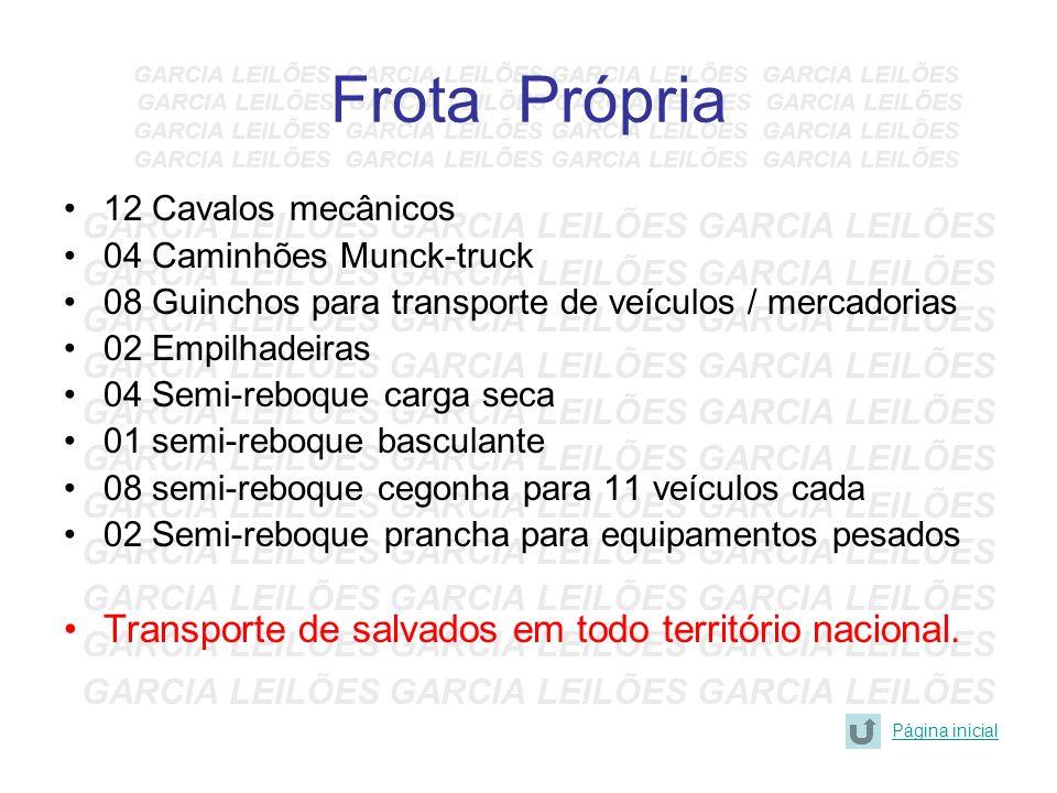 Frota Própria Transporte de salvados em todo território nacional.