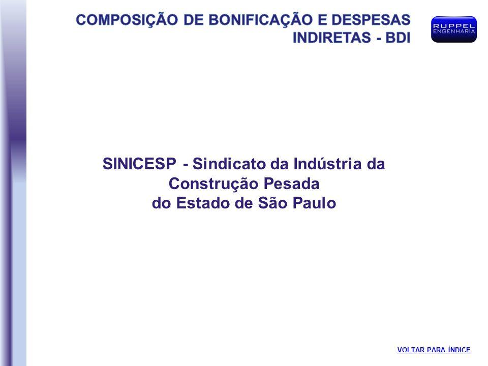 SINICESP - Sindicato da Indústria da Construção Pesada