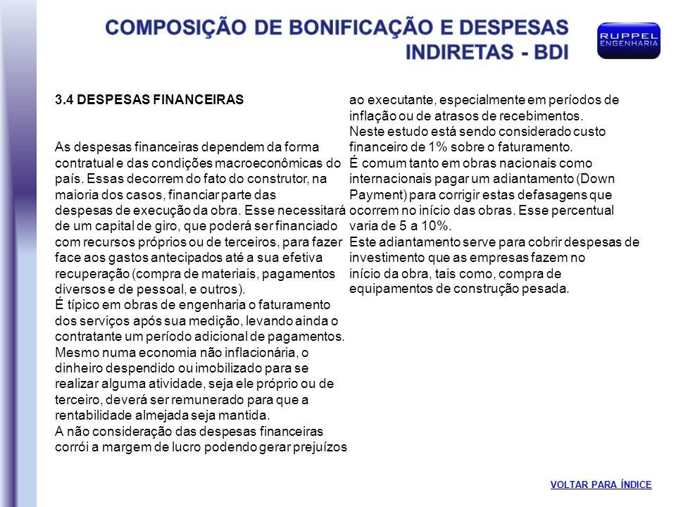 3.4 DESPESAS FINANCEIRAS