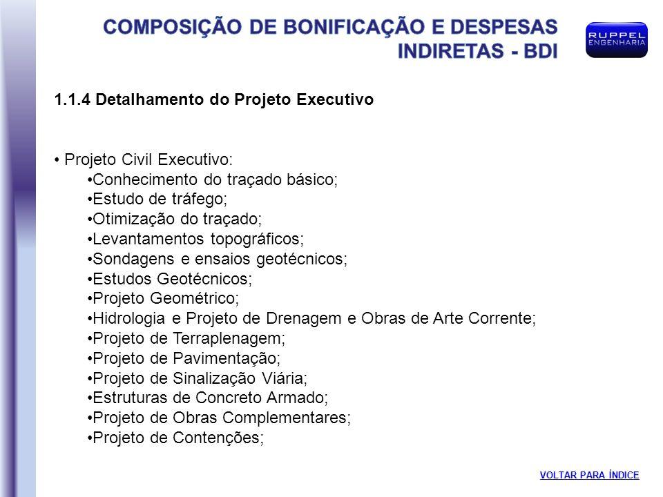 1.1.4 Detalhamento do Projeto Executivo