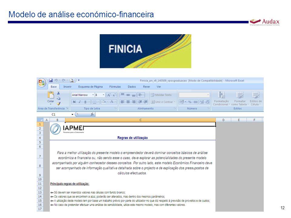 Modelo de análise económico-financeira