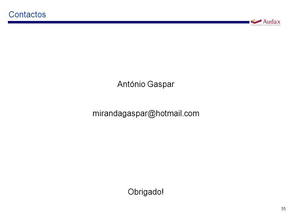 Contactos António Gaspar mirandagaspar@hotmail.com Obrigado!