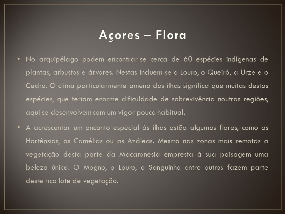 Açores – Flora