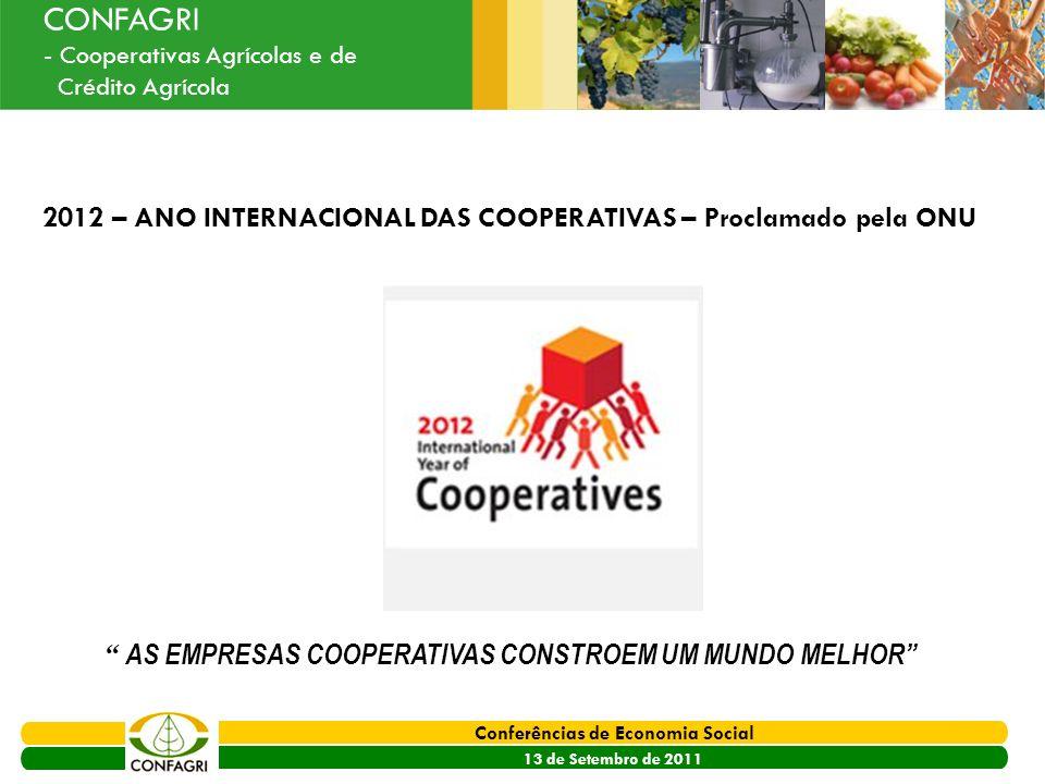 2012 – ANO INTERNACIONAL DAS COOPERATIVAS – Proclamado pela ONU