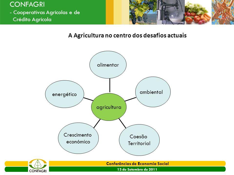 A Agricultura no centro dos desafios actuais