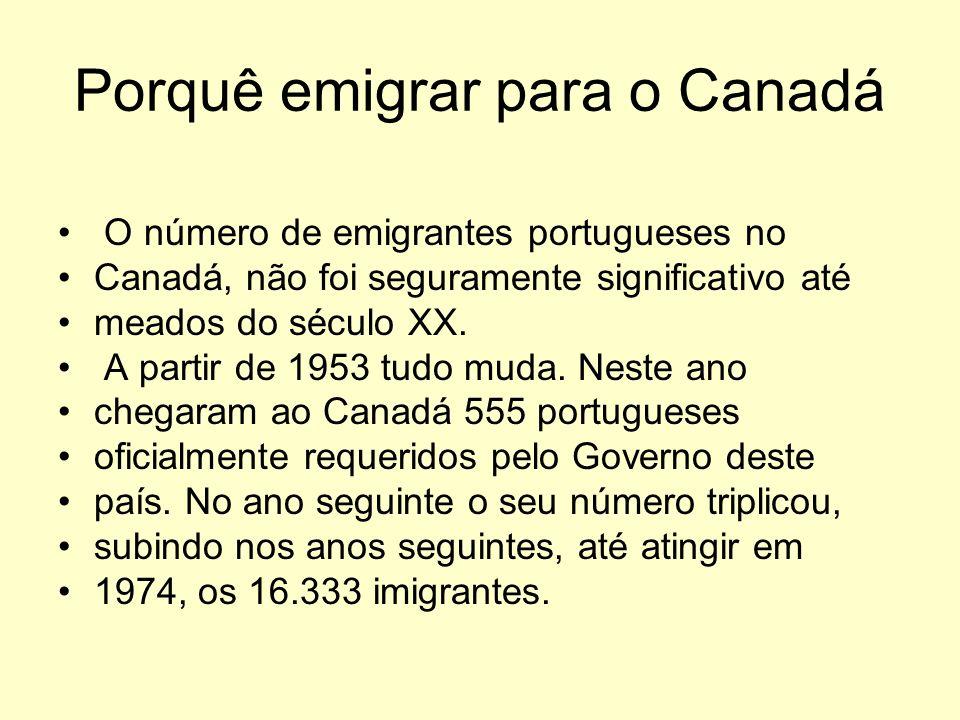 Porquê emigrar para o Canadá
